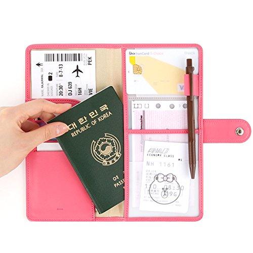 LINE FRIENDS THE JOURNEY NO SKIMMING PASSPORT-Pink