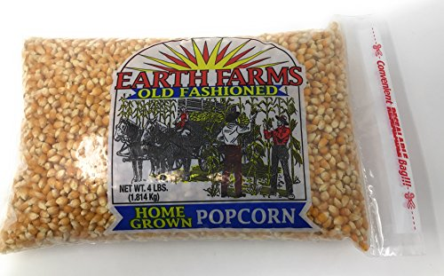 Price comparison product image Earth Farms Non GMO Old Fashioned Home Grown Popcorn (4 lb Resealable Bag)