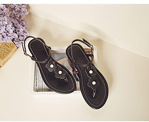 À Bout 1CM Chaussures Ouvert Sandales Femmes Noir Sandale Calaier Chaussure 7wCFf