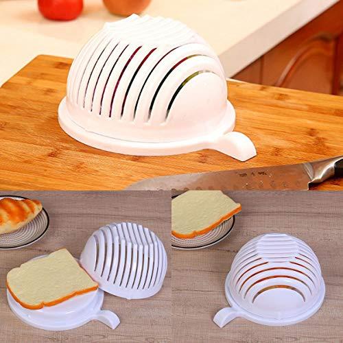 Instant Salad Cutter Vegetable Fruit Slicer Bowl Kitchen Food Chopper Quick Salad Maker Safe & Quick Cutting Tool