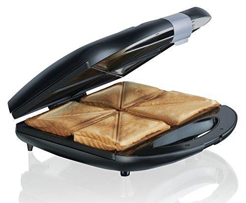 Melissa 4-Fach Sandwichtoaster - Anti-Haftbeschichtung, leicht zu reinigen TOP Sandwichmaker für 4 Toast-s