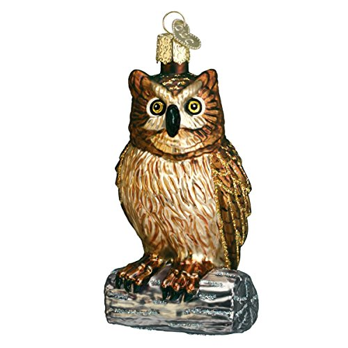 Old World Christmas Wise Owl Glass Blown Ornament