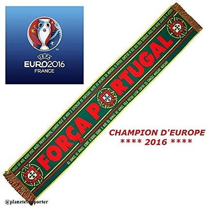 Réduction grande variété de styles avant-garde de l'époque Planete Supporter Echarpe Finale EURO 2016 FRANCE PORTUGAL ...