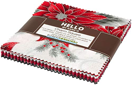 Peggy Toole Holiday Flourish 12 Scarlet Charm Square 42 5-inch Squares Robert Kaufman CHS-786-42