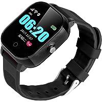 BINDEN Smartwatch Rastreador GPS FA23 Resistente el Agua IP67, Ideal para Niña o Niño, Seguimiento Minuto a Minuto con Geocerca y SOS, App Disponible para iOS y Android (Negro)