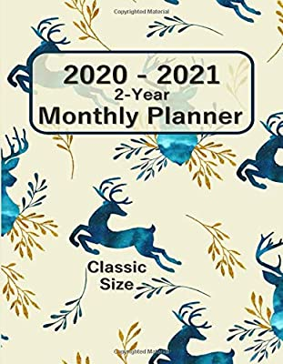 2020 - 2021 Classic Size 2-Year Monthly Planner 7x9: Agenda ...