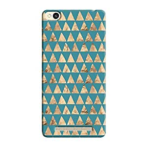 Cover it up - Brown Blue Triangle Tile Redmi 3s Hard Case