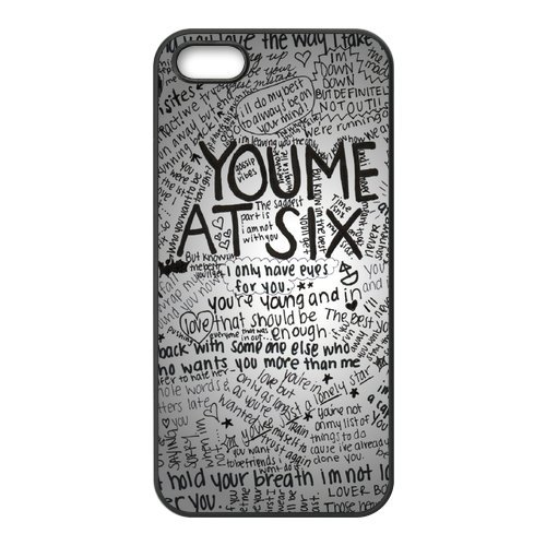 iPhone 5/5S Cover, Custodia per iPhone 5S, You Me At Six Design Durevole materiale silicone Rubber Case Cover for iPhone 5 5S