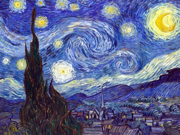 Wieco Art - Canvas Print, Stretched and Framed, Huge Canvas Print Classic Van Gogh Reproductions, 24inch by 32inch Starry Night Modern Wall Art and Home Decoration, Ready to Hang