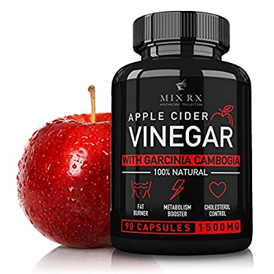 Apple Cider Vinegar Capsules Pills w/Garcinia Cambogia - Premium Strength Appetite Suppressant Natural Weight Loss Diet Pills - Detox Cleanse - Lose Weight Fast, Bloating Relief Dietary Supplement