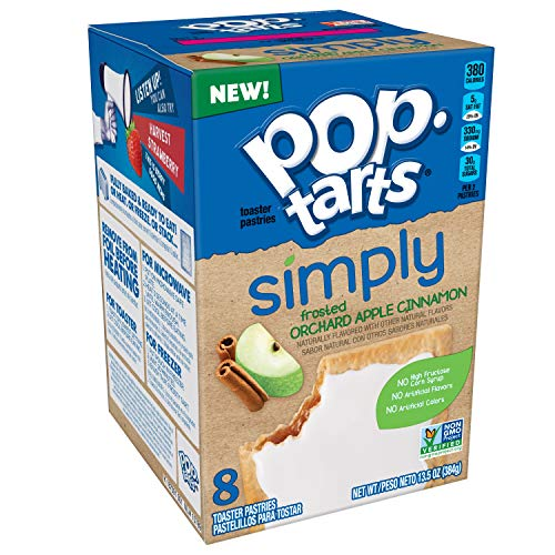 (Simply Pop-Tarts, Toaster Pastries, Frosted Orchard Apple Cinnamon, Non-GMO Project Verified, 13.5oz)
