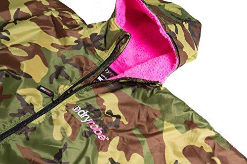 Dryrobe Advance - Umkleidemantel für Kinder/Jungendliche - langärmeliger Poncho Camo / Rosa fFFMEGdBku