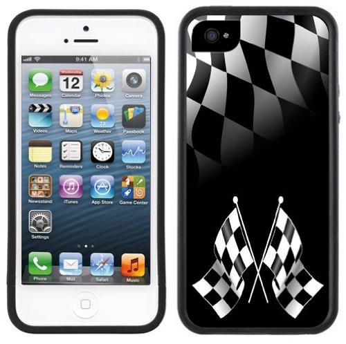 Checkered Flags | Handgefertigt | iPhone 5 5s | Schwarze Hülle