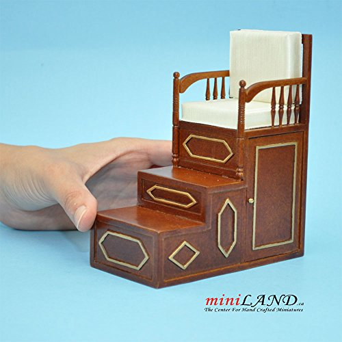 Islamic pulpit Minbar steps chair mimber mosque imam for dollhouse miniature 1:12 scale - limited edition - The Mosque Imam