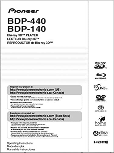 Pioneer Bdp 140 Blu Ray Player Owners Instruction Manual Reprint