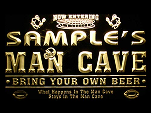 ADVPRO Name Personalized Custom Man Cave Football Bar Beer Neon Sign Yellow 12x8.5 inches st4s32-qa-tm-y