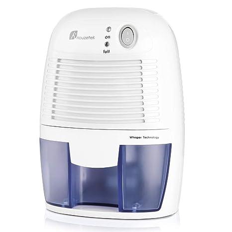 Houzetek Absorbeur d\'Humidité, Mini Déshumidificateur Electrique avec 500ml  Réservoir d\'eau pour pour chambre, salle de bains, armoire, ...