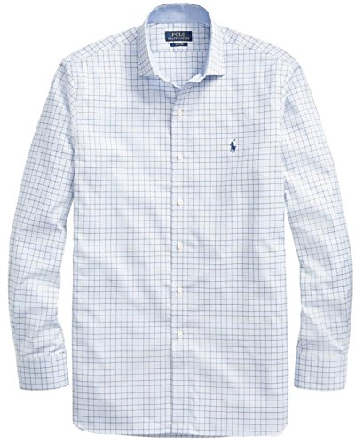 Polo Ralph Lauren Mens Solid Poplin Sport Shirt  L  Dsbluetan
