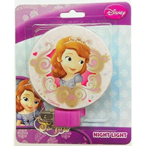 Disney Princess Sofia the First Kids Night Light (One Size, Pink)