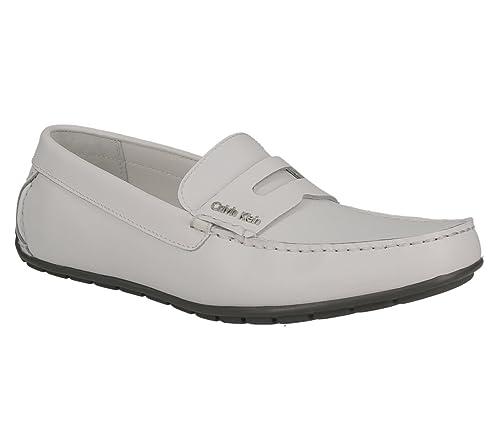 Calvin Klein Mocasines de Otra Piel Hombre, (Blanco), 40 EU: Amazon.es: Zapatos y complementos