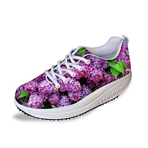 Shoes Toning Lilac Purple Women Swing Casual Fitness doginthehole Walking Sneaker Shoes ARtwfqpf