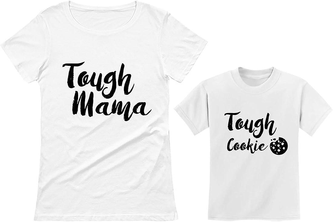 Tough Mama Tough Cookie Mother & Son Daughter Matching Set Mom & Child Shirts