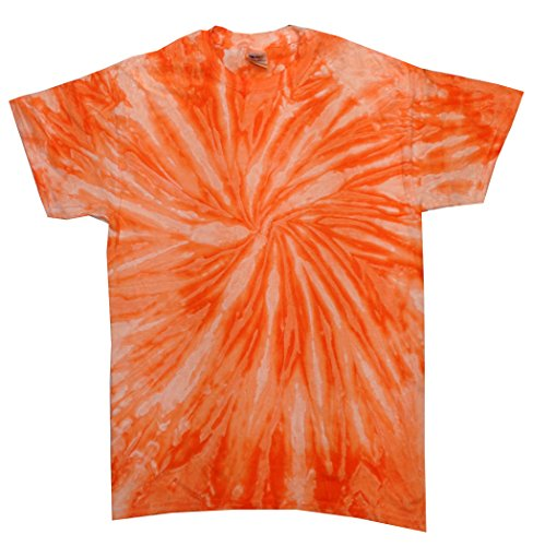 Colortone Tie Dye T-Shirt MD Neon Orange