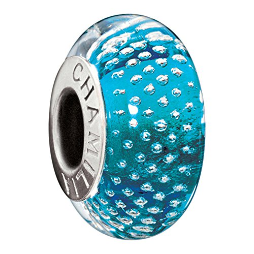 Mystic Murano Glass Bead (Authentic Chamilia Sterling Silver Murano Mystic Collection Turquoise Charm 2116-0083)