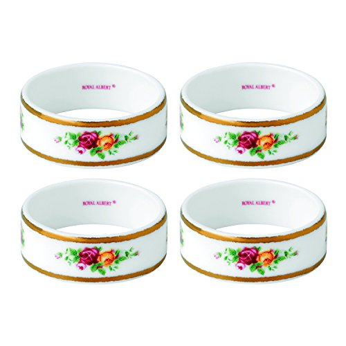 Royal Albert Old Country Roses Napkin Ring (Set of 4), 2.2'', Multicolor by Royal Albert
