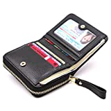 Kinzd Accordion Wallet RFID Leather Card Wallet for Women Credit Card Holder (OneSize, upgraded Black)