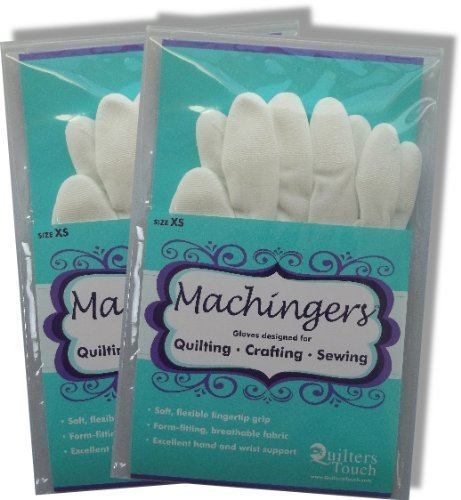 Bulk Buy: Quilters Touch Machingers Gloves Extra Small 209G-Z (2-Pack)