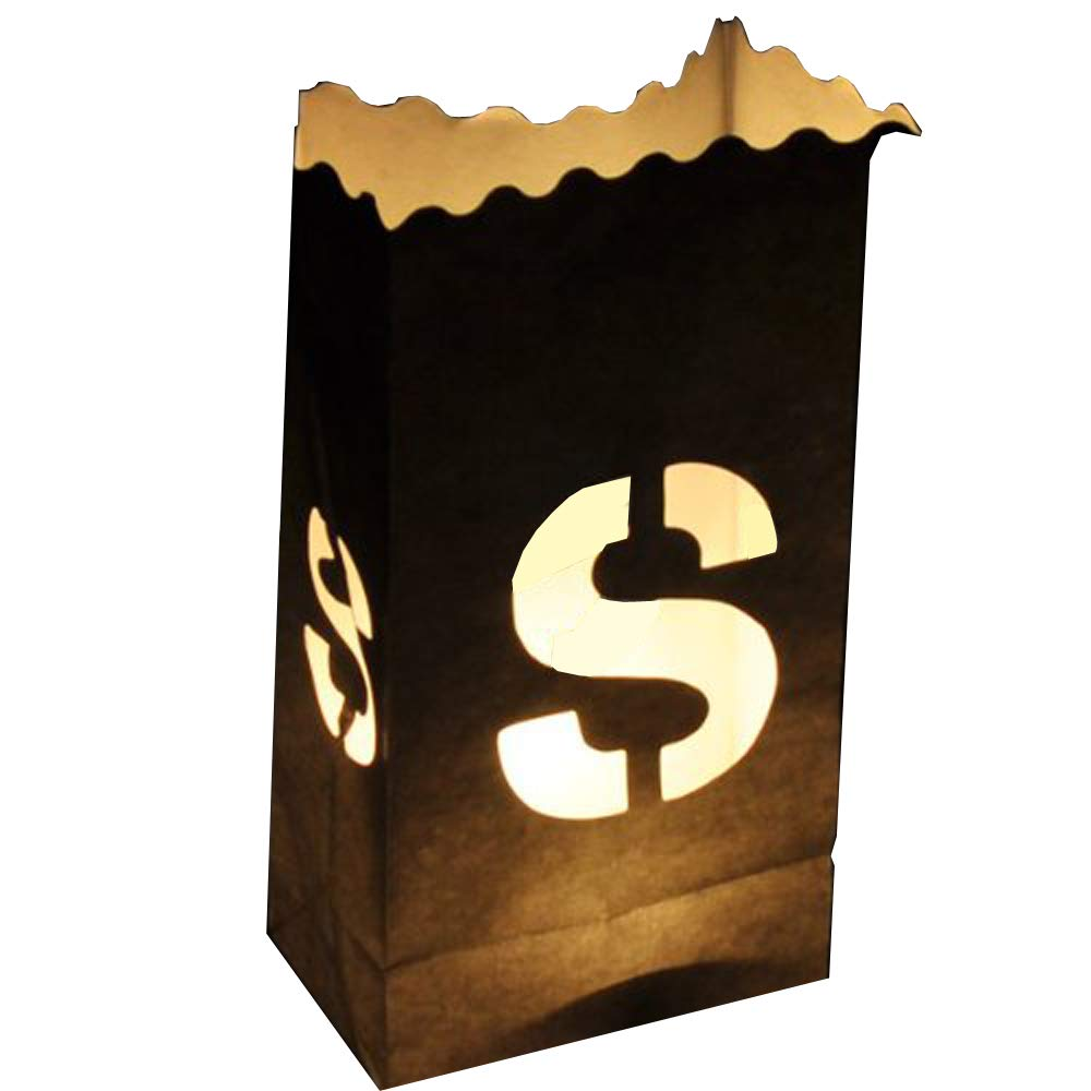 Luminary Candle Bag Individual Letters , LETTER-S