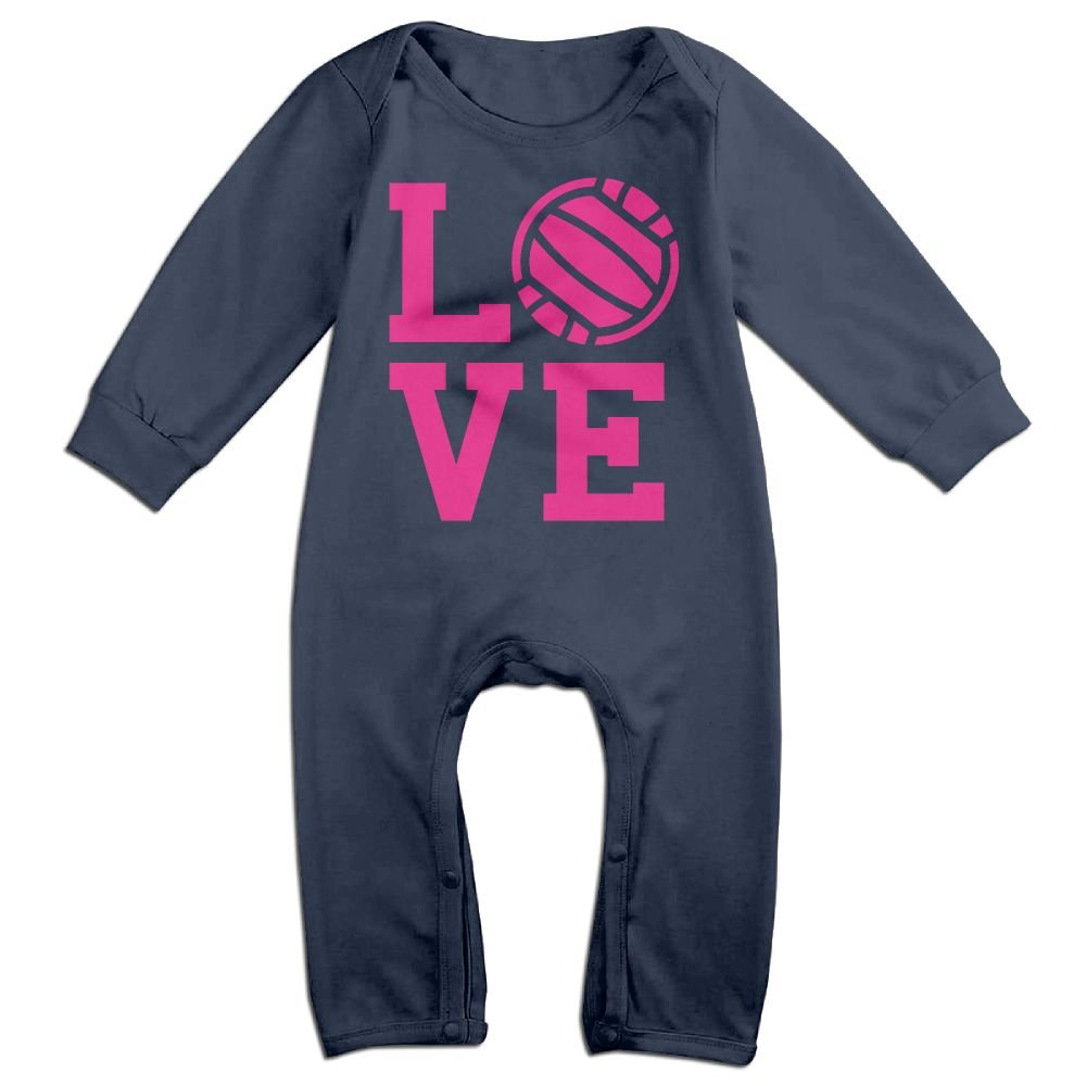 Baby Boy Coverall Love Volleyball Toddler Jumpsuit