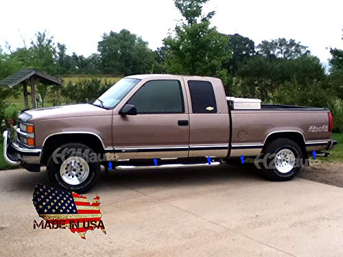 H2Mauto fit:1996-1998 Chevy/GMC C/K Pickup 3Dr Extended Cab Short Bed No Flare Rocker Panel Trim 11Pc 6 1/4