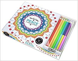 Vive Le Color! Peace (Adult Coloring Book and Pencils): Color ...