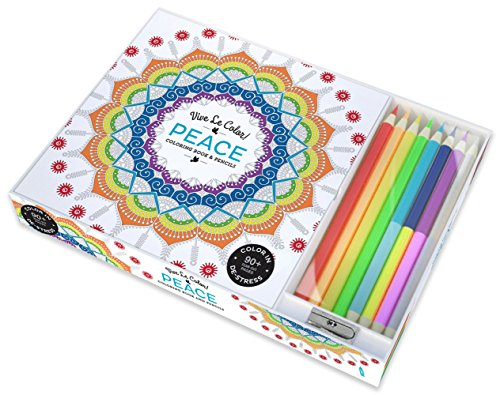 Vive Le Color! Peace (Adult Coloring Book and Pencils): Color Therapy Kit -