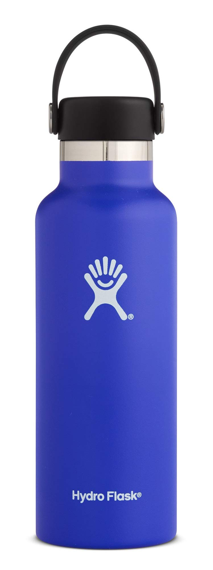Hydro Flask 18 oz Double Wall Vacuum Insulated Stainless Steel Leak Proof Sports Water Bottle, Standard Mouth with BPA Free Flex Cap, Blueberry