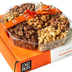Oh! Nuts Holiday Gift Basket, Roasted Nu...