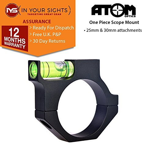 Atom Anti Can't ALCANCE DEL RIFLE TIPO BURBUJA NIVEL montajes, disponible en 25 or 30mm Opciones - 25mm Scope body diameter Atom Optics