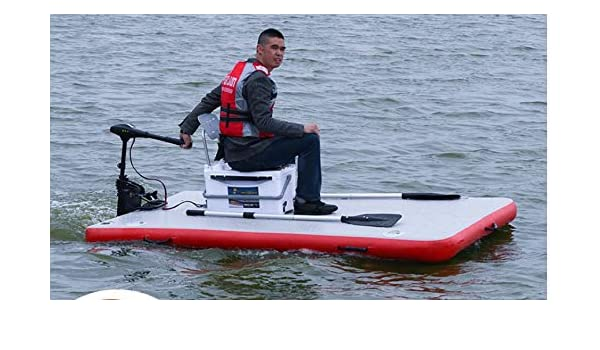eef4b297e120 Amazon.com : Inflatable Motorized Fishing Platform Paddle Board Surf Board  Dingy Raft Boat : Sports & Outdoors