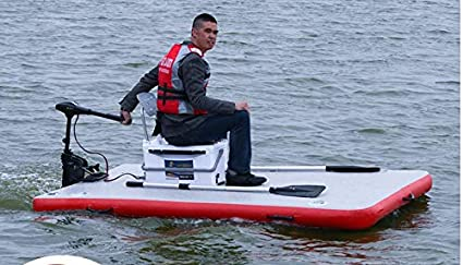 f373145f8ad5 Inflatable Motorized Fishing Platform Paddle Board Surf Board Dingy Raft  Boat (6x3ft.)