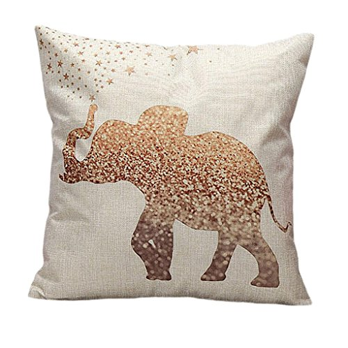Iuhan® Fashion Vintage Cotton Linen Pillow Case Sofa Waist Throw Cushion Cover Home Decor