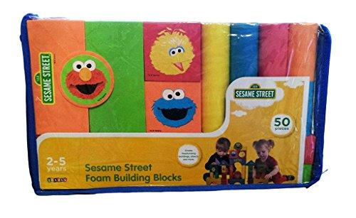 Verdes Sesame Street Foam Building Blocks - 50 Pieces