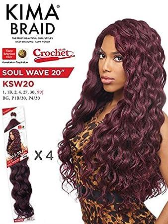 Amazoncom Harlem 125 Kima Braid Soul Wave 20 Crochet Braid 4