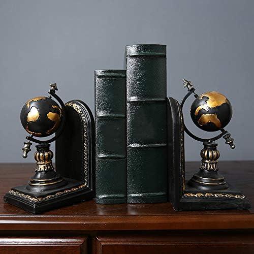 Gaoominy Amerikanischen Globus Buchst/ütze Harz Figuren Retro Globus Buch Stand Modell Miniatur Ornamente Kreatives Handwerk Haushalts Dekor