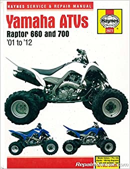h2977 yamaha raptor 660 700 2001-2012 atv repair manual by haynes:  manufacturer: amazon com: books