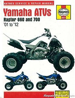 h2977 yamaha raptor 660 700 2001 2012 atv repair manual by haynes Yamaha ATV Cooling System