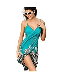 Women's Swimwear Cover-up Beach Wrap Dress Floral Patterned