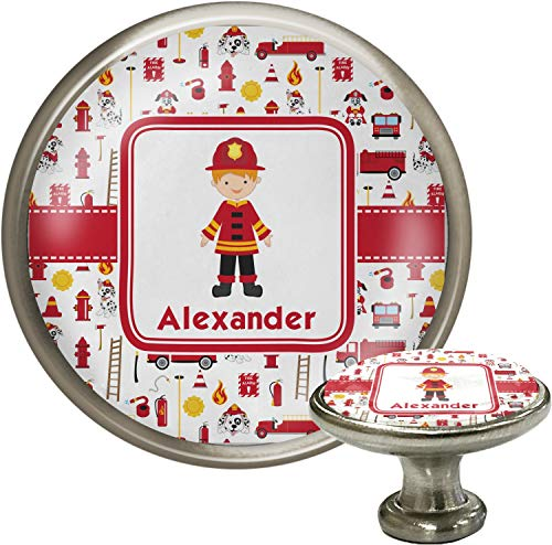 Firefighter for Kids Cabinet Knob (Silver) (Personalized)