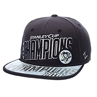 Pittsburgh Penguins 2016 NHL Stanley Cup Champions Zephyr Adjustable Snapback Hat / Cap by Zephyr